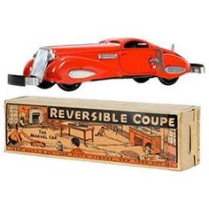 1936 Marx, Reversible Coupe (The Marvel Car) in Original Box