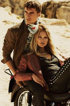 Kate Moss in an ad visual for the Matchless spring 2015 campaign. [Photo by Mert Alas and Marcus Piggott]