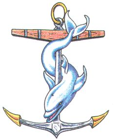 dolphin & anchor tattoo
