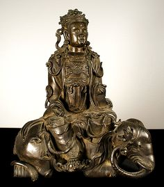 Artist Unknown Pu Hsien/Samantabhadra (All-Good Buddha), China, Yuan Dynasty, 14th century, Bronze. Collection of OUMA.