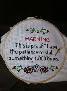 21 Ideas Funny Memes Passive Aggressive Laughing For 2019 Cross Stitching, Cross Stitch Embroidery, Cross Stitch Patterns, Funny Embroidery, Embroidery Sampler, Embroidery Hoops, Embroidery Patterns, Funny Jokes, Hilarious