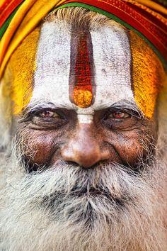 Baba, Sadhu in Varanasi, upstairs landing art