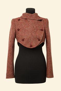 Lola Jacket : Red Barley Corn Harris Tweed || Walker Slater Tweed Specialists