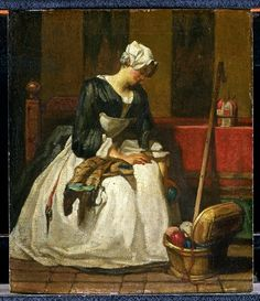 The Embroiderer, c.1773 (oil on canvas)