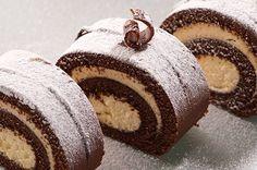 Brazo de Gitano de Chocolate y Nata Te enseñamos a cocinar recetas fáciles cómo la receta de Brazo de Gitano de Chocolate y Nata y muchas otras recetas de cocina..