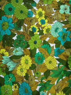Vintage mad men floral atomic pillow square fabric by nancypolacek, $5.00