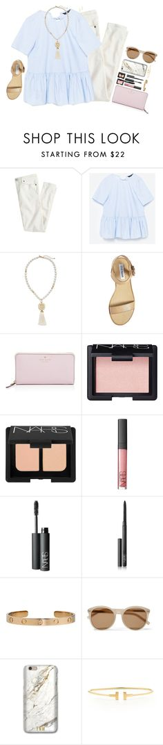 """serendipity"" by katie-tx ❤ liked on Polyvore featuring J.Crew, Volant, Chico's, Steve Madden, Kate Spade, NARS Cosmetics, Cartier, Yves Saint Laurent, Tiffany & Co. and Gorjana"