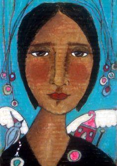 folk art painting by mystele