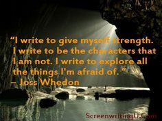 Joss Whedon, on writing.my hero Writing Problems, Writers Desk, Give Me Strength, Life Philosophy, Joss Whedon, Screenwriting, Inspire Me, Give It To Me, Explore