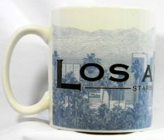 Starbucks Mug Los Angeles Skyline Series Barista City #Coffee Cup 2005 18oz #Starbucks