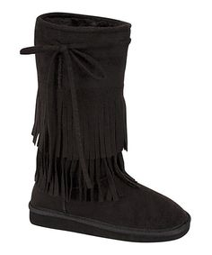 Look at this Link Black Fringe Aling Boot on today! Katies Fashion, Girly Girl, Girl Fashion, That Look, Footwear, Boots, Casual, Girl Style, Black