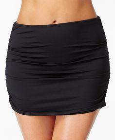 Lauren Ralph Lauren Plus Size High-Waist Swim Skirt