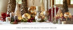 Xmas Decorations, Xmas Decor & Winter Decor | Pottery Barn