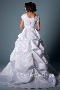 Modest Wedding Dresses : Caldwell. Really like the skirt.