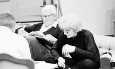 dietrichmarlene:  Spencer Tracy and Marlene Dietrich rehearsing the script for Judgment at Nuremberg, 1961