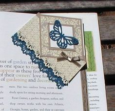 Corner bookmark, bookmark, butterfly