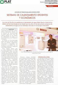 Robert Bosch Perú: Entrevista a Víctor Salinas en la revista Construir de Perú (01/10/2017)