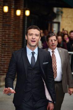 Justin Timberlake rocks a 3-piece suit
