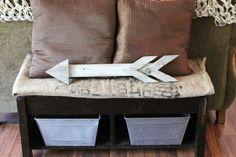 Rustic Reclaimed Wood Arrow от thesummeryumbrella на Etsy