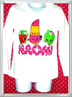 Shopkins Birthday Toddler girls shirt size 24 M, 2T, 3T, 4T, 5T, 6 yrs, 7 yrs. Shopkins Kids shirt for all the shopkins fans. Listing included long are shorts sleeves shirt. This shirt would be perfect for your little ones Shopkins birthday themed Names with only 5 are 6 letters Numbers 1-10 Please leave your message with name, size are number in checking out.