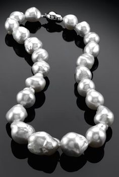White Baroque South Sea Pearl Necklace      MSRP $ 12,000.00