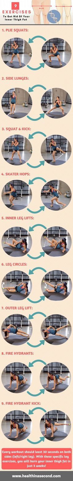 Get Rid Of Your Inner Thigh Fat With These Effective Workouts - HealthInaSecond.com
