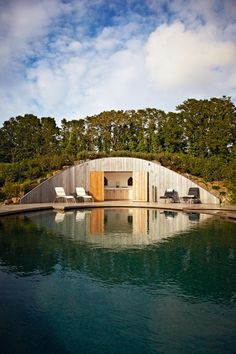 What is it about garden rooms that is so universally appealing? We're getting excited just thinking about the prospect of a seclude little spot somewhere, like this modern pool house in Cornwall.