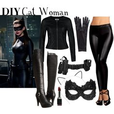 DIY Cat Woman Costume by ayemyree on Polyvore featuring Vero Moda, Masquerade, Buy Seasons, Madden Girl, John Lewis and Makebelieve