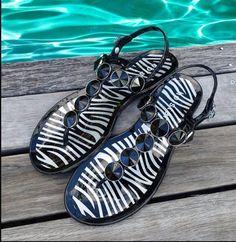 Holster zebra sandal Flats, Sandals, Resort Wear, New Look, Casual Shoes, Active Wear, Flip Flops, Lace Up, Wedges