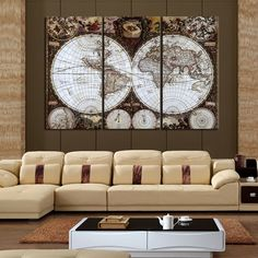 Classic 5D Diy diamond painting full diamond Embroidery bead Needlework home decoration painting world map set triptych wall art #Affiliate