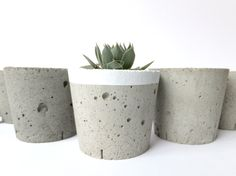 Concrete mini pots by BetonDeko.