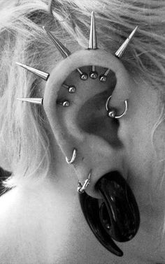 Different and uncommon helix piercing(s)