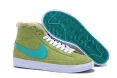 Nike Blazer Mid Wool Women's Shoes Green,80% off for sneakers, impossible is nothing.