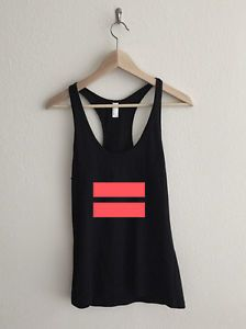 Infrared Gay Marriage Equality Symbol Racerback Tank Top
