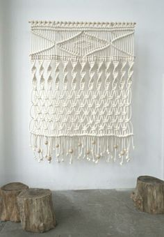 macrame wall hanging ... kicking myself for not keepin all my mom's and grandma's !