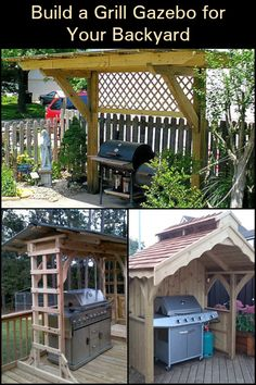 A backyard grill gazebo is a great spot for family and friends to get together. Build your own today!