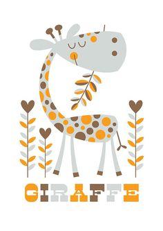 Giraffe. Bubble Gum Years - ETSY