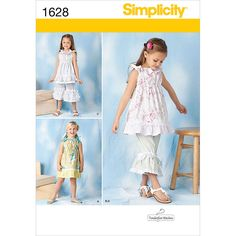 Simplicity Pattern 1628A 3-4-5-6-7--Simplicity Child Dre