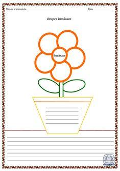 """Despre bunătate. Câteva idei și o fișă de lucru - """"Floarea bunătății"""" School Lessons, Classroom, Education, Homework, Ems, Blog, Film, Fitness, Plants"""