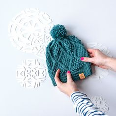 January Hat : What's better than a free hat pattern? 12 free hat patterns, of course! This year we're releasing a new, free hat design each month made in Germantown. Knitting Patterns Free, Knit Patterns, Free Knitting, Baby Knitting, Free Pattern, Knitting Projects, Crochet Projects, Knit Crochet, Crochet Hats