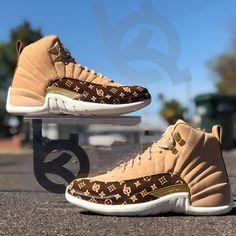 Custom Air Jordan 12 Its Gucci babyyy Jordan Shoes Online, Jordan Shoes Girls, Air Jordan Shoes, Girls Shoes, Michael Jordan Shoes, Ladies Shoes, Cute Sneakers, Shoes Sneakers, Kd Shoes
