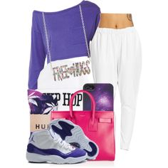 Purple Swag, created by benginepierre on Polyvore
