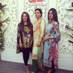 Tabassum, Saleema & Sara at the #tabassummughal lawn launch #happeningnow #hellopakistan ☺️