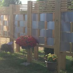 Privacy screens...unique and modern looking way to make privacy around your patio.