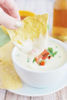 Restaurant-Style Queso Dip - just like your favorite Mexican restaurant! And so easy!