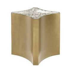 Cortez Side Table  Contemporary, MidCentury  Modern, Transitional, Metal, Mirror, Side  End Table by Michael Taylor Collections