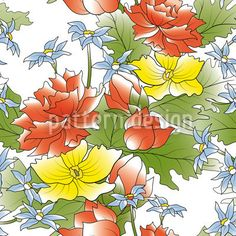 Asian Flower Bouquet created by Viktoryia Yakubouskaya offered as a vector file on patterndesigns.com