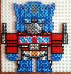 Optimus Prime - Transformers hama perler beads by Deco.Kdo.Nat