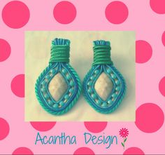 #Accesorios #Zarcillos #Soutache #hechoenvenezuela Design, Ear Studs, Accessories, Design Comics