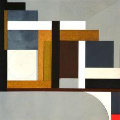 "Saatchi Online Artist: Jason Blackmore; Painting, 2011, Assemblage / Collage ""Planar IV"""